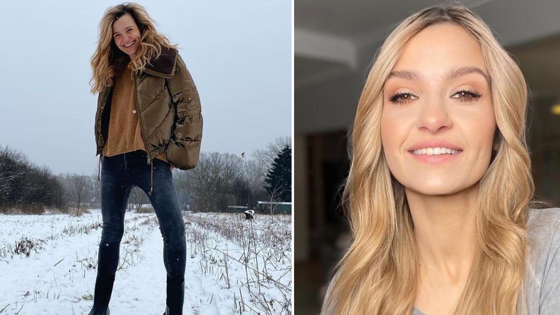 """Joanna Koroniewska w BODY pozuje na śniegu z gołymi nogami: """"Dziś będzie gorąco!"""""""