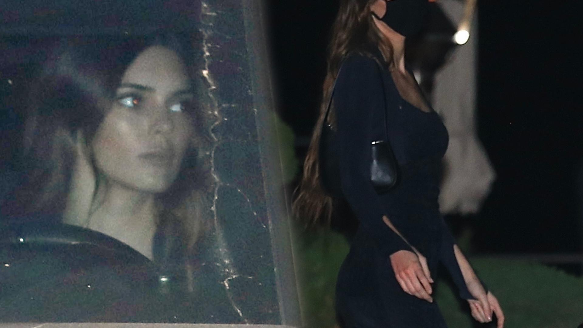 Kendall Jenner w sukience z głębokim dekoltem spotkała się z Caitlyn. Modelka jest coraz CHUDSZA!