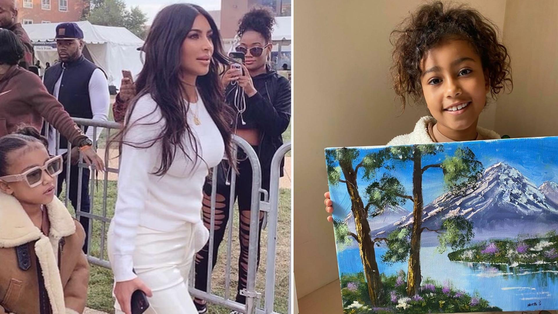 """W sieci ZAWRZAŁO, gdy Kim Kardashian pokazała obraz namalowany przez North: """"Kolejny Picasso"""""""