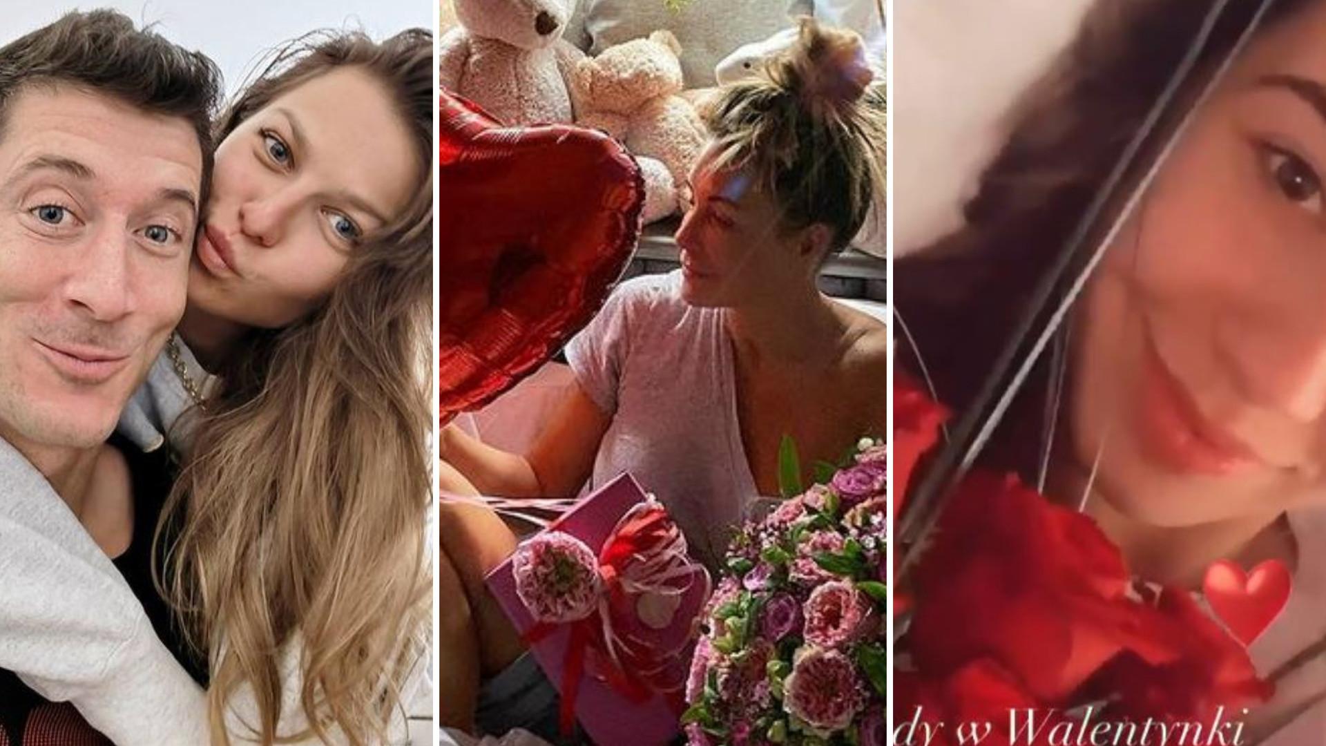Walentynki gwiazd: Rozenek w łóżku z balonami, Lewandowscy, Marcelina Ziętek i Piotr Żyła… (ZDJĘCIA)