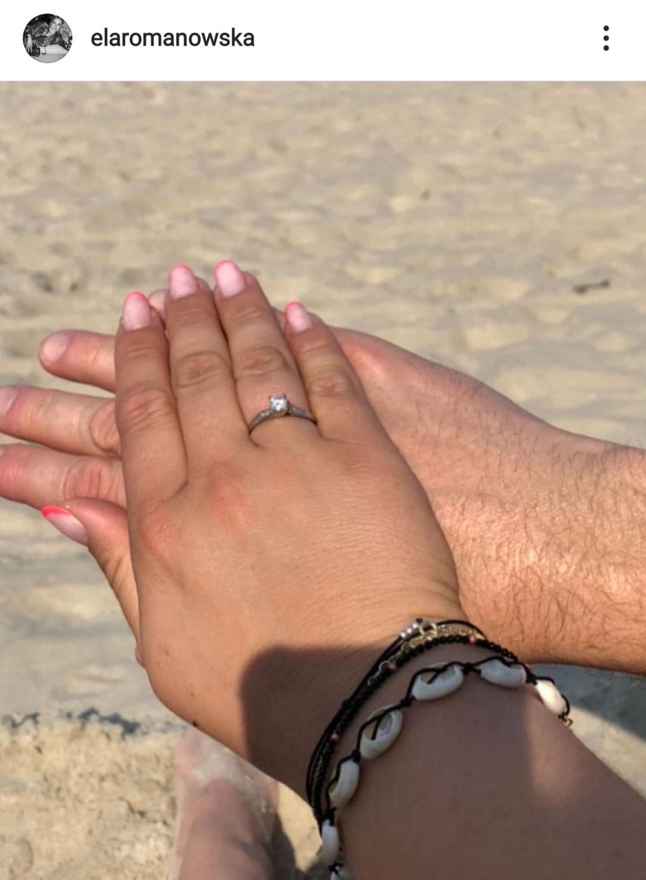 Ela Romanowska pokazała pierścionek zaręczynowy