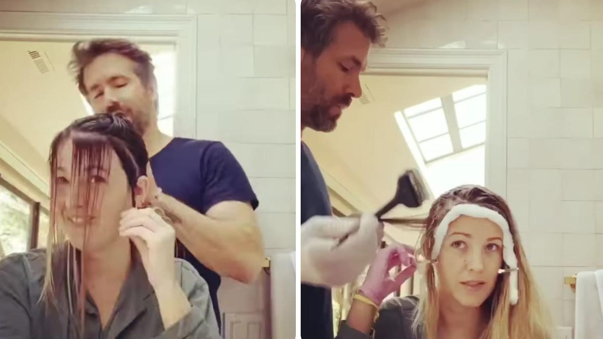 """Ryan Reynolds wcielił się we fryzjera Blake Lively. Pofarbował jej włosy. """"To się nazywa zaufanie"""""""