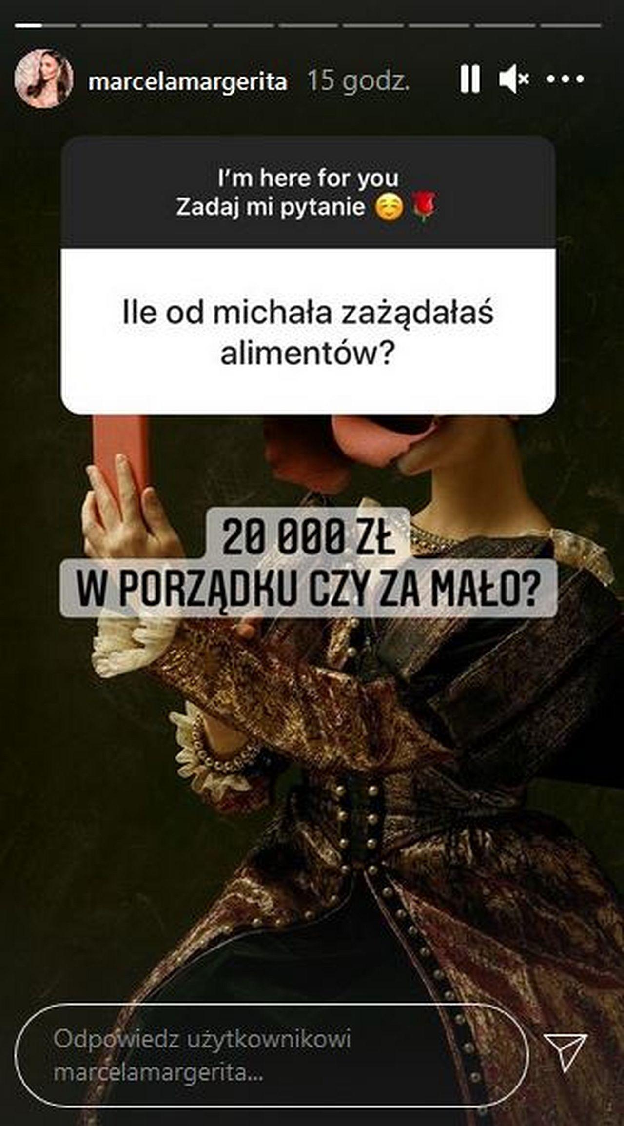 Marcela Leszczak o alimentach od Miśka Koterskiego