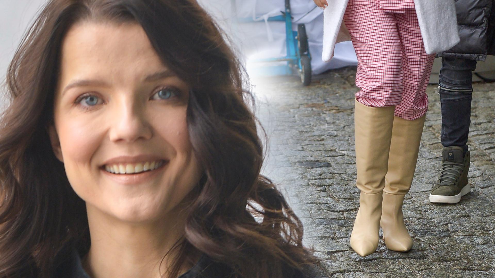 Gwiazdy DD TVN: Joanna Jabłczyńska w skromnej stylizacji, za to jedna z aktorek w kolorowym garniturze (ZDJĘCIA)