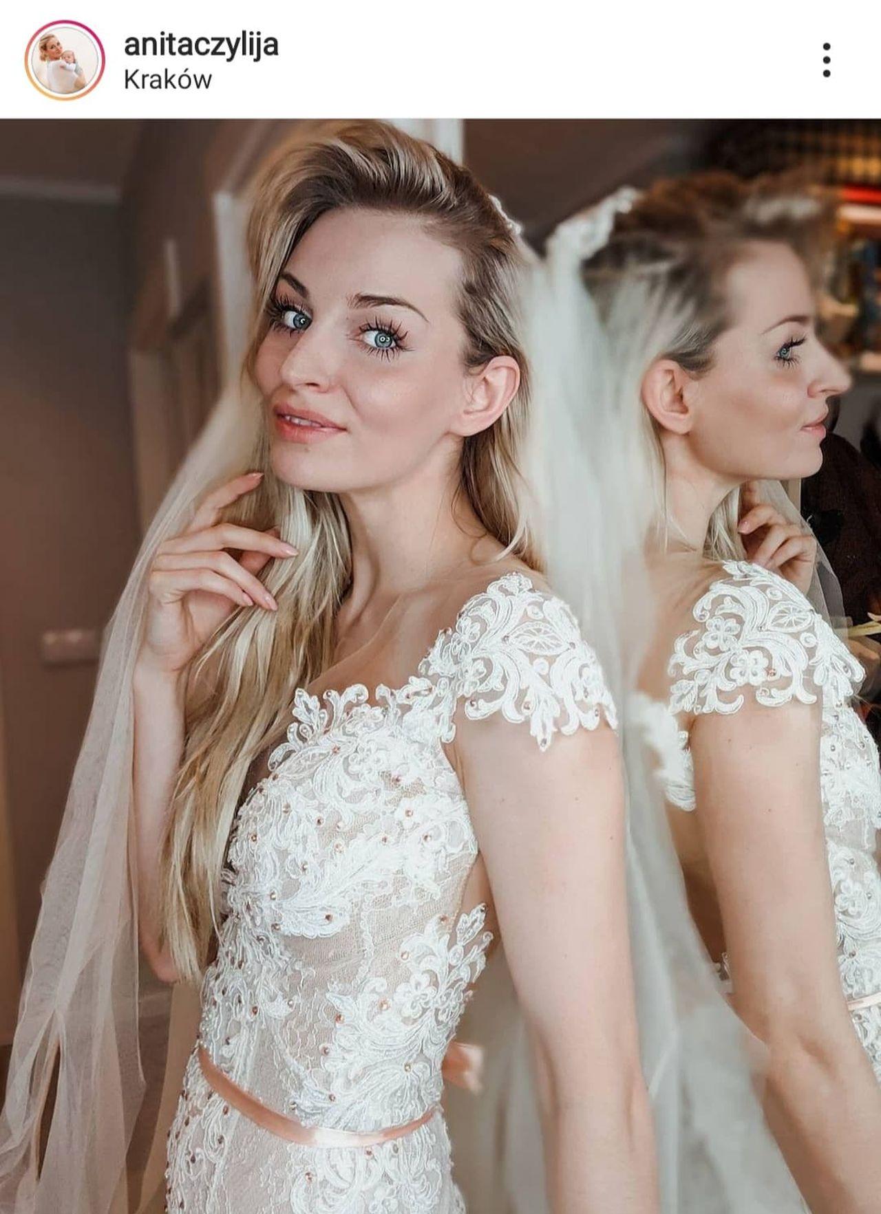 Anita Szydłowska w sukni ślubnej