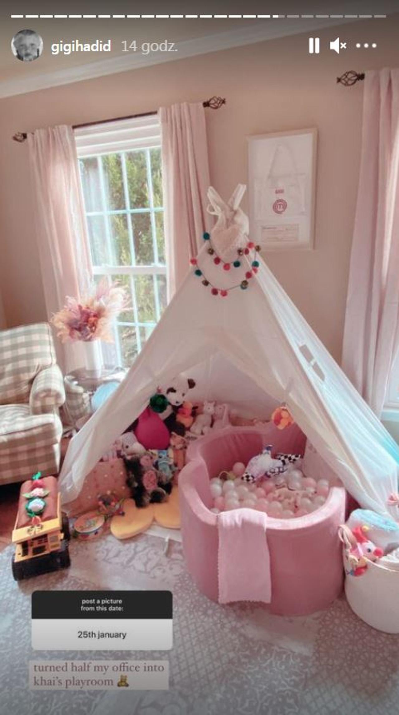 Gigi Hadid pokazała pokój do zabaw córki.