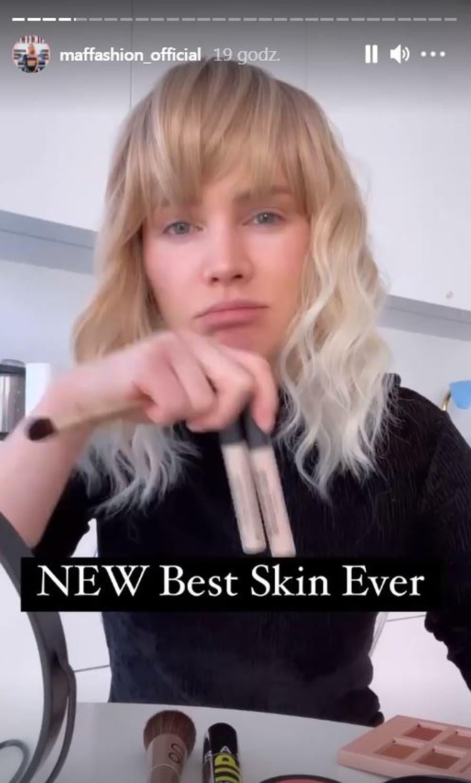 Maffashion bez makijażu. Pokazała, jak robi codzienny makijaż.
