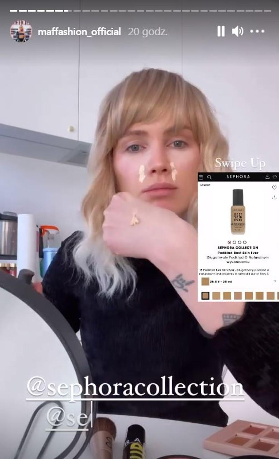 Minimalistyczny makijaż Maffashion.