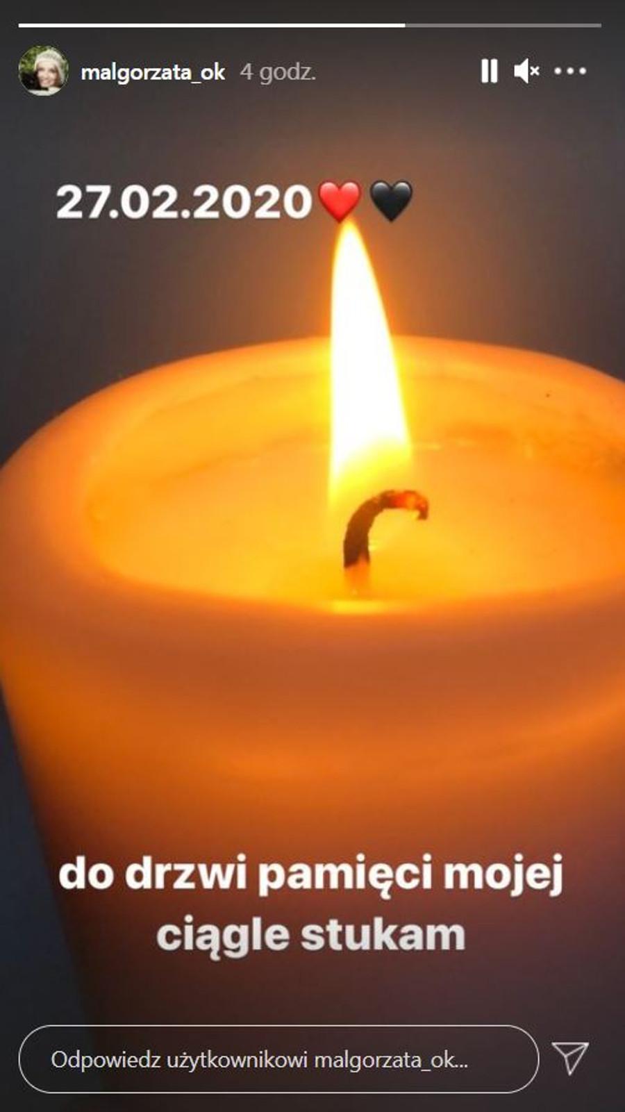 Małgorzata Ostrowska-Królikowska wspomina męża w pierwszą rocznicę śmierci.