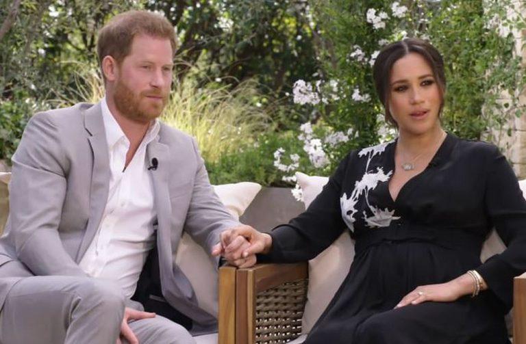 Meghan i Harry podczas wywiadu u Oprah Winfrey