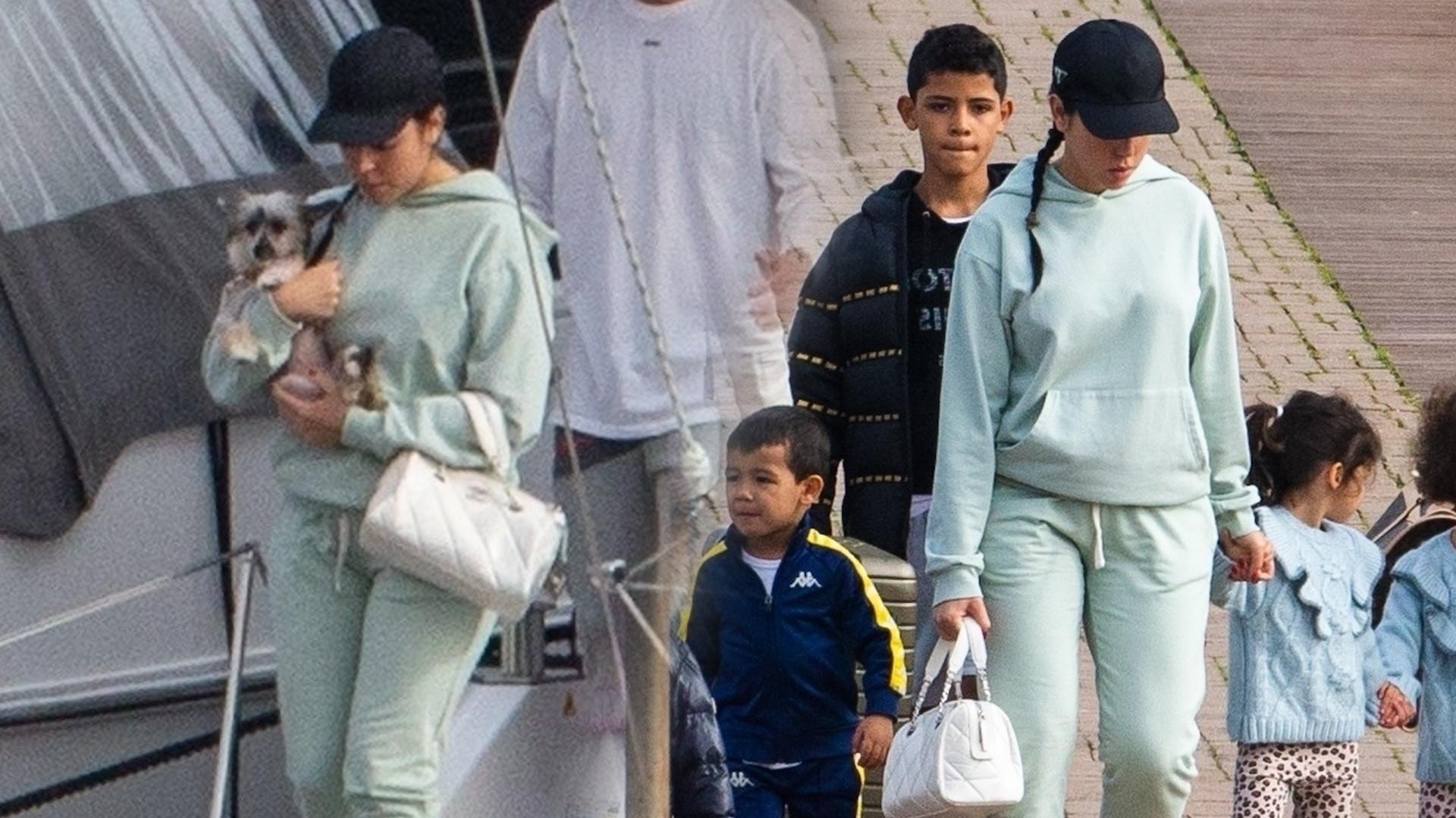 Georgina Rodriguez zajmuje się CZWÓRKĄ dzieci i psem (ZDJĘCIA)