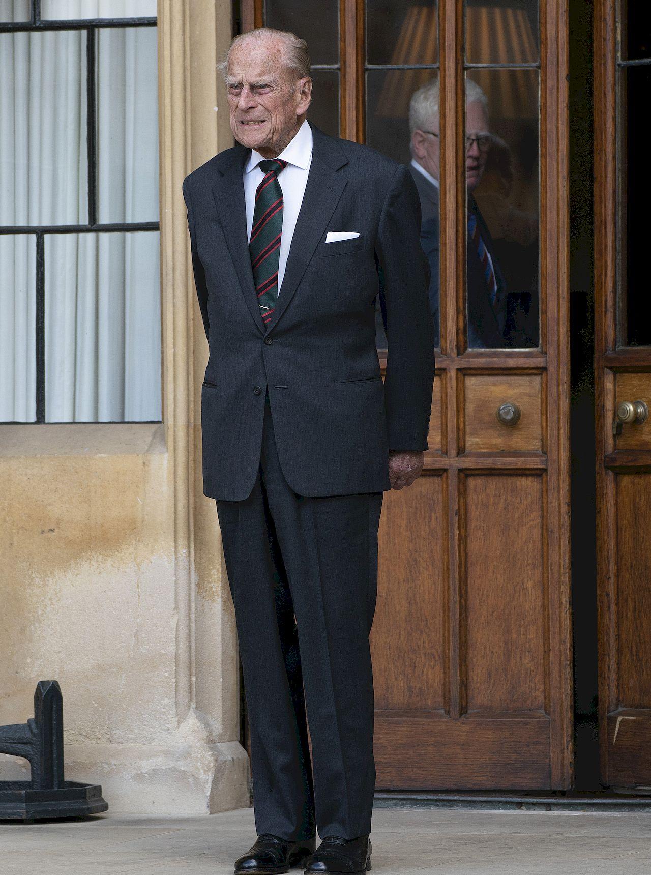 Książę Filip na oficjalnym wystąpieniu.