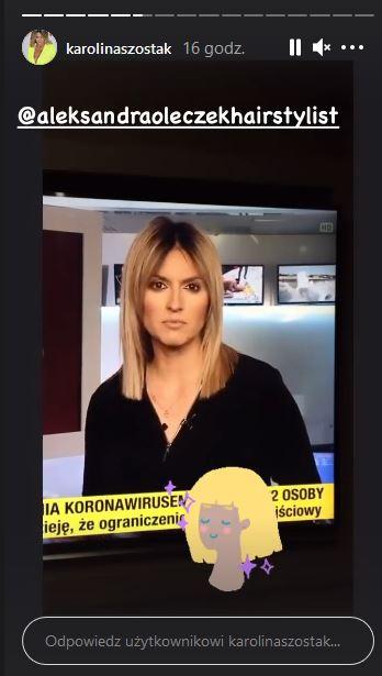 Nowa fryzura Karoliny Szostak