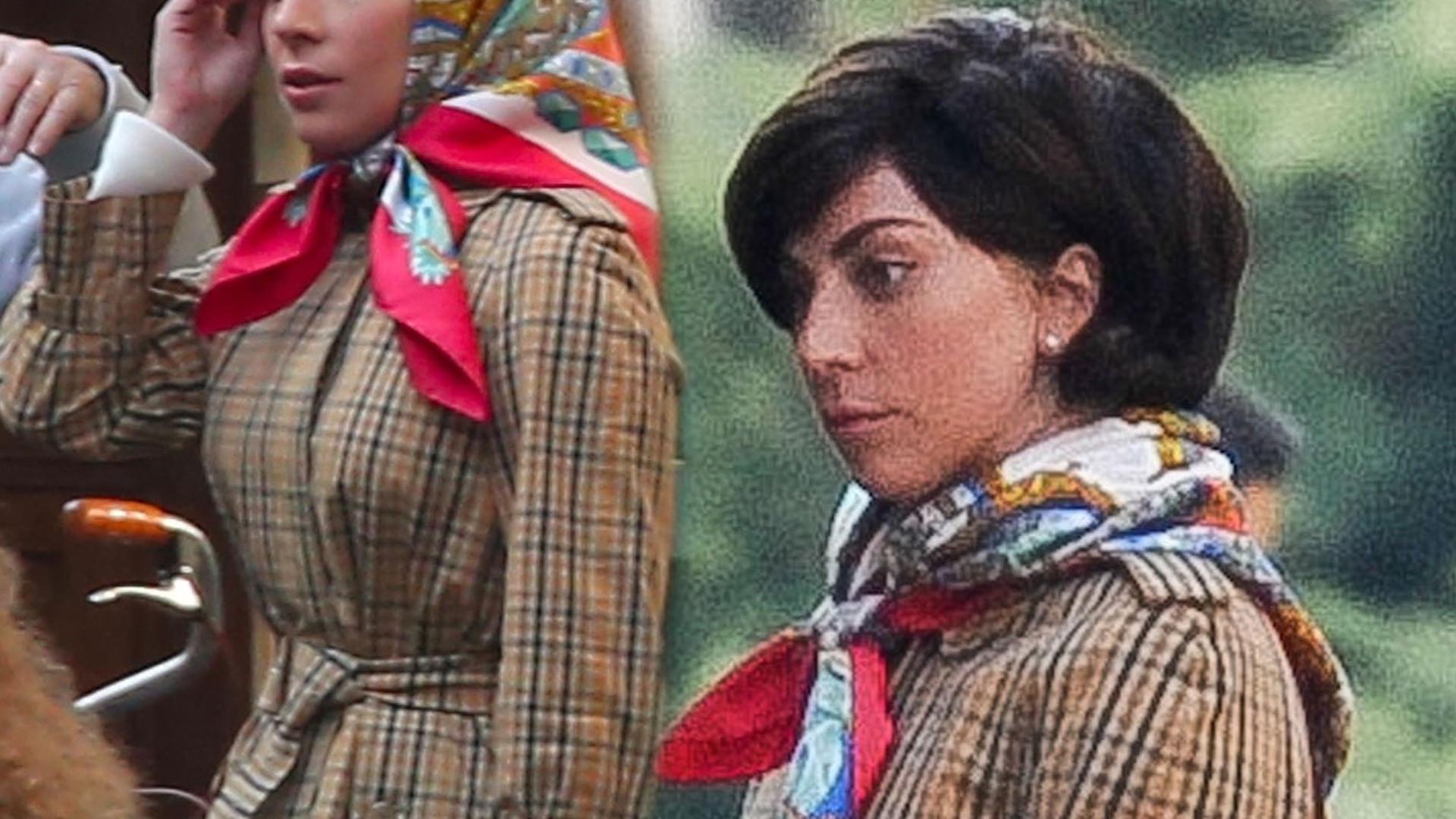 """Lady Gaga na planie filmowym """"House of Gucci"""". Stylizacje robią wrażenie!"""