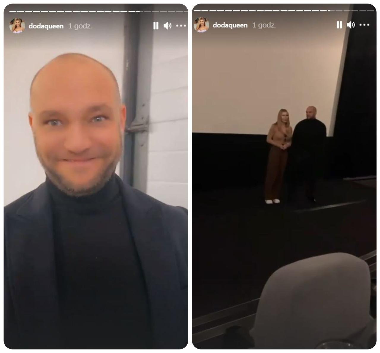 Doda z mężem urządzili przedpremierowy pokaz filmu.