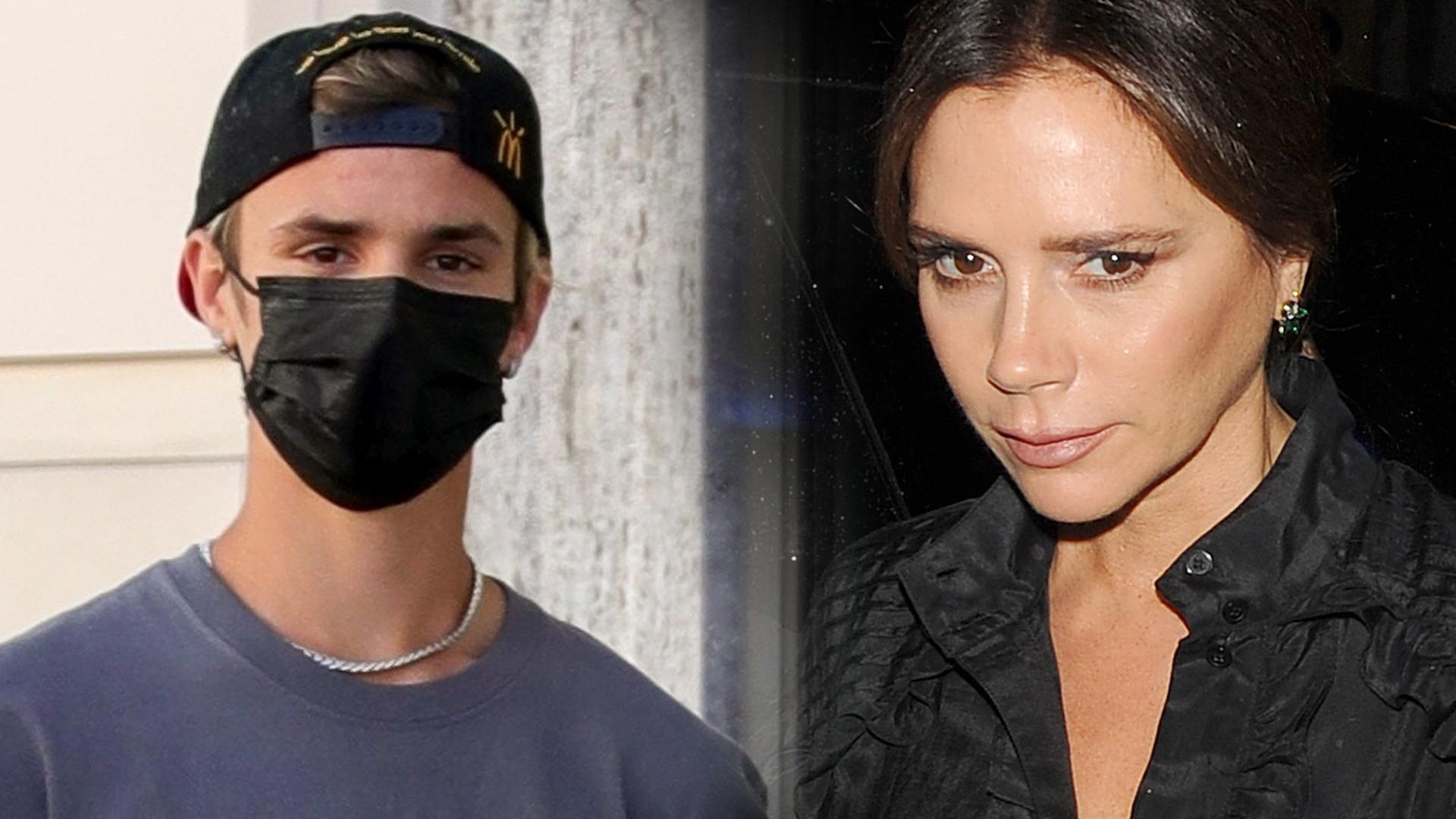 Romeo Beckham na spotkaniu z przyjaciółmi w koszulce odnoszącej się do jego mamy (ZDJĘCIA)