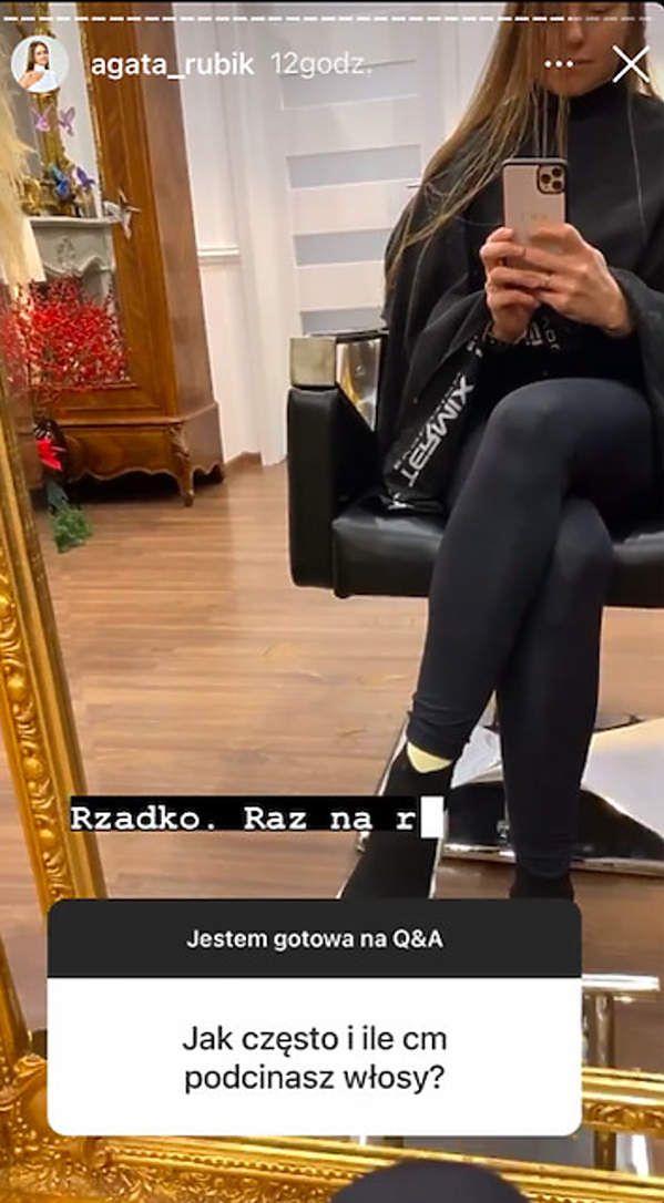 Agata Rubik - jak często chodzi do fryzjera