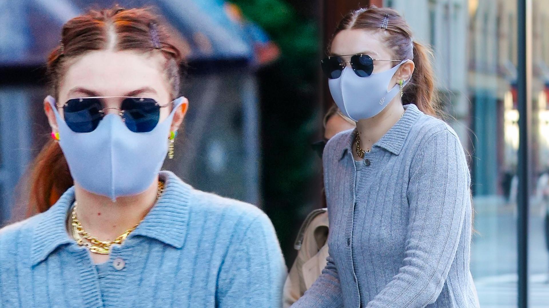 Gigi Hadid w PIŻAMIE na spacerze z córką (FOTO)