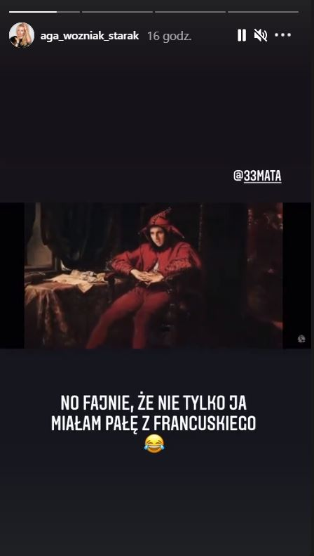 Agnieszka Woźniak-Starak miała pałę z francuskiego