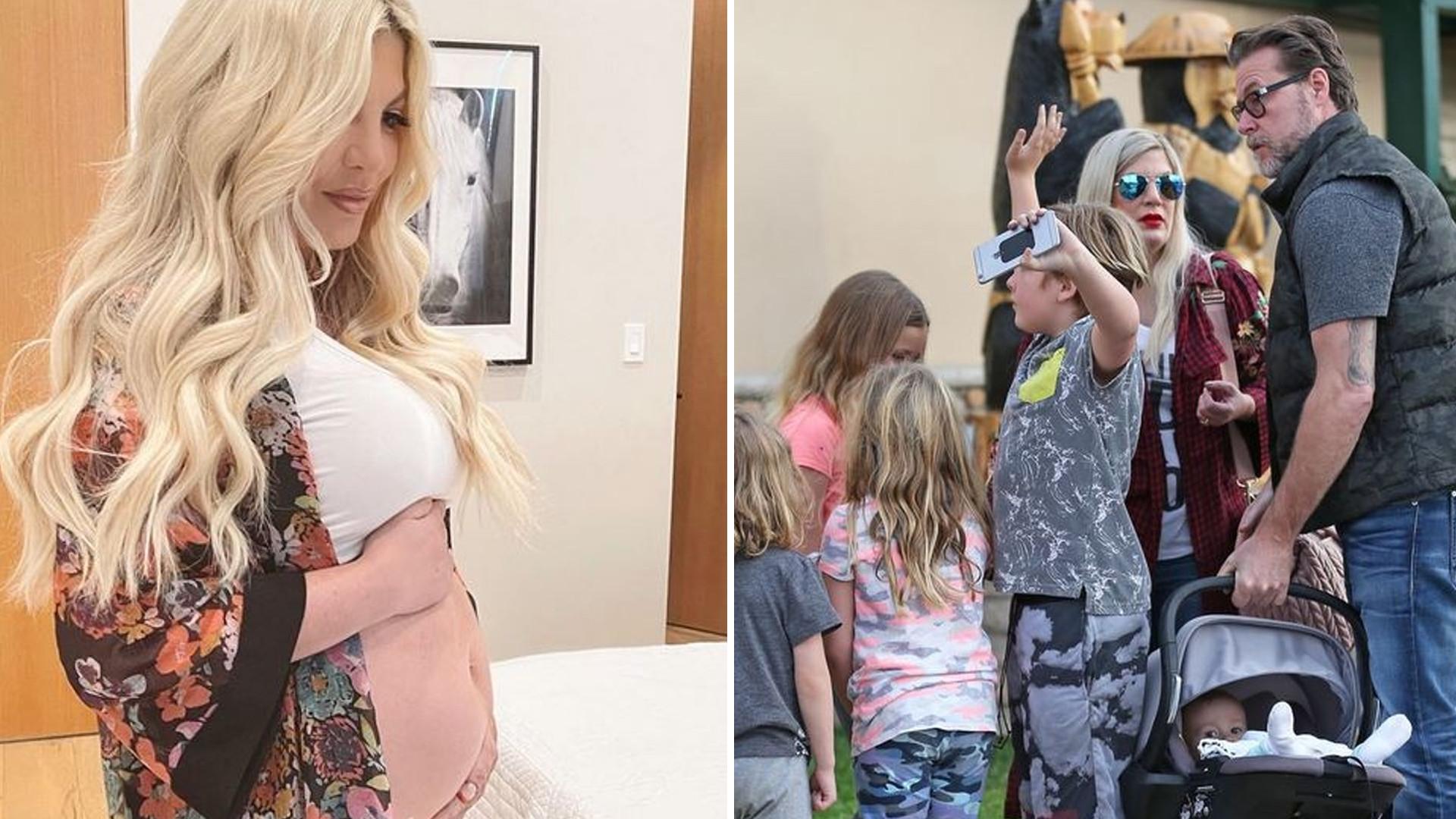 OMG! Tori Spelling jest w SZÓSTEJ ciąży? Pokazała brzuszek!