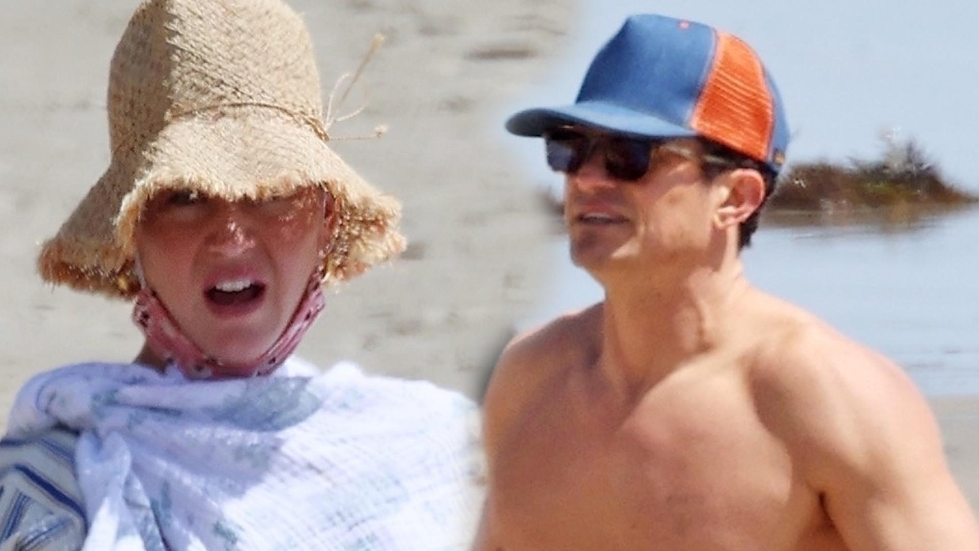 Katy Perry i Orlando Bloom na plaży w Santa Barbara. Ich córeczka jest coraz większa (ZDJĘCIA)
