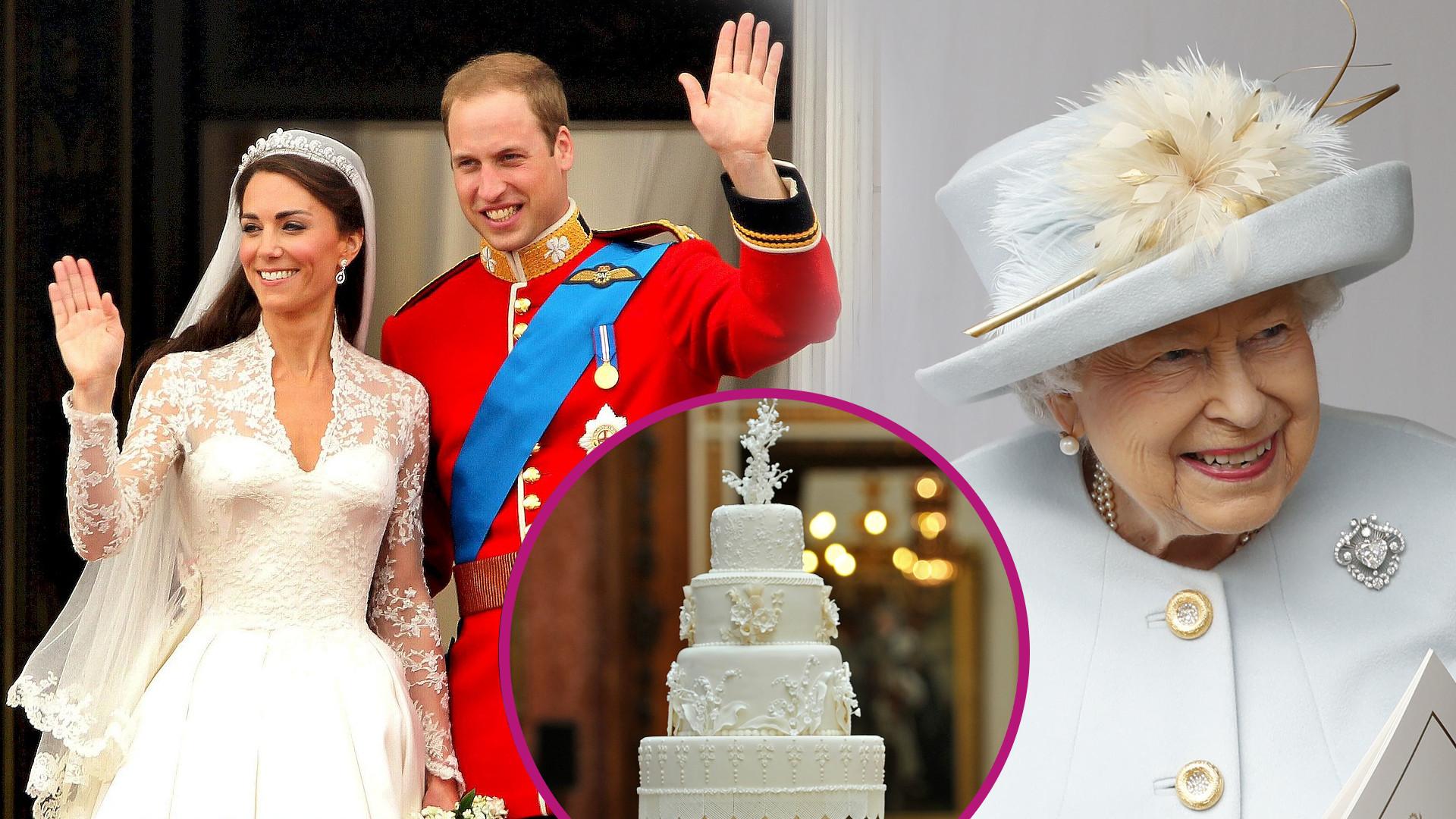 Tort weselny Kate i Williama sprawił sporo problemów. Królowa rzuciła wtedy kąśliwą uwagę do pracownicy