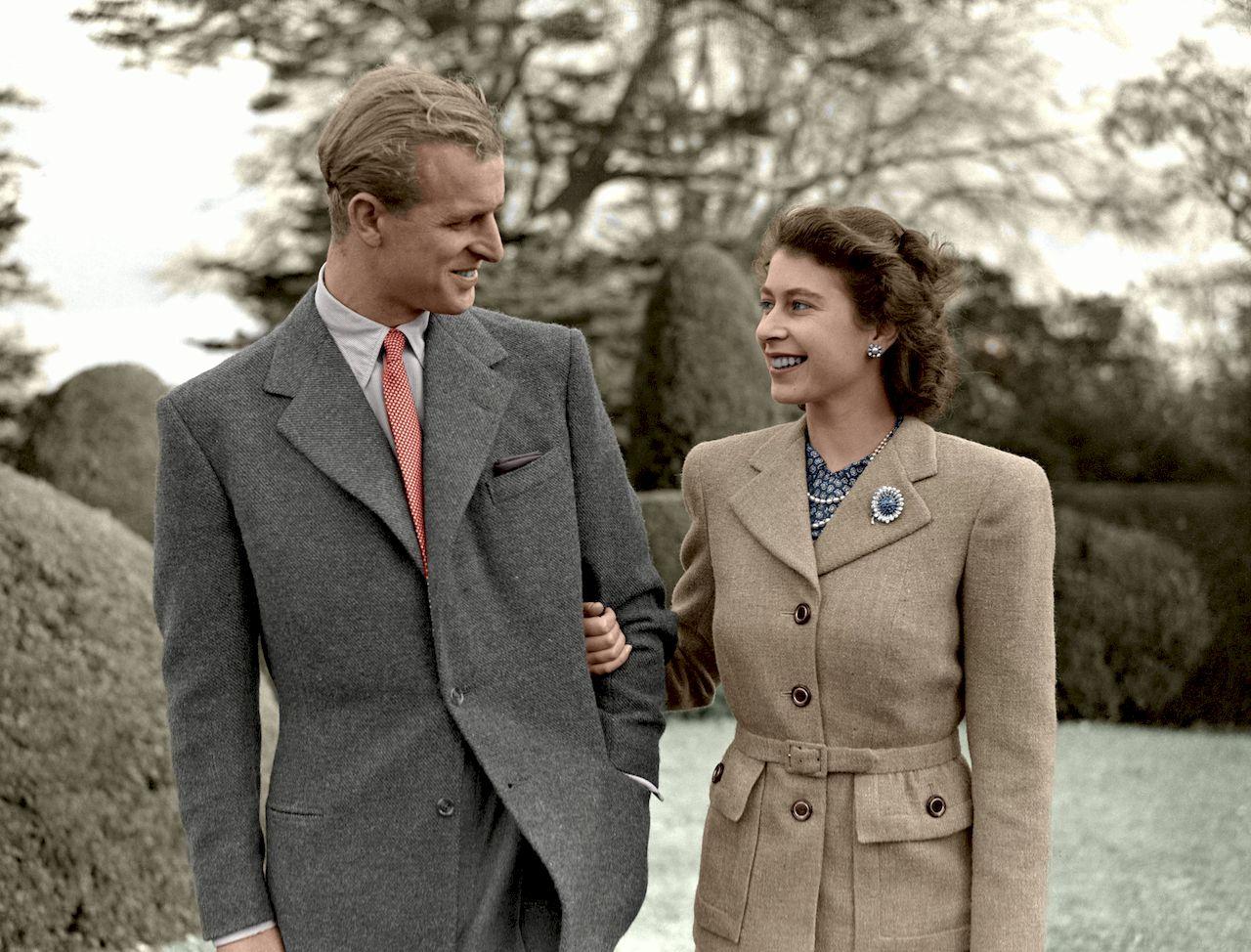 Książę Filip, królowa Elżbieta w młodości