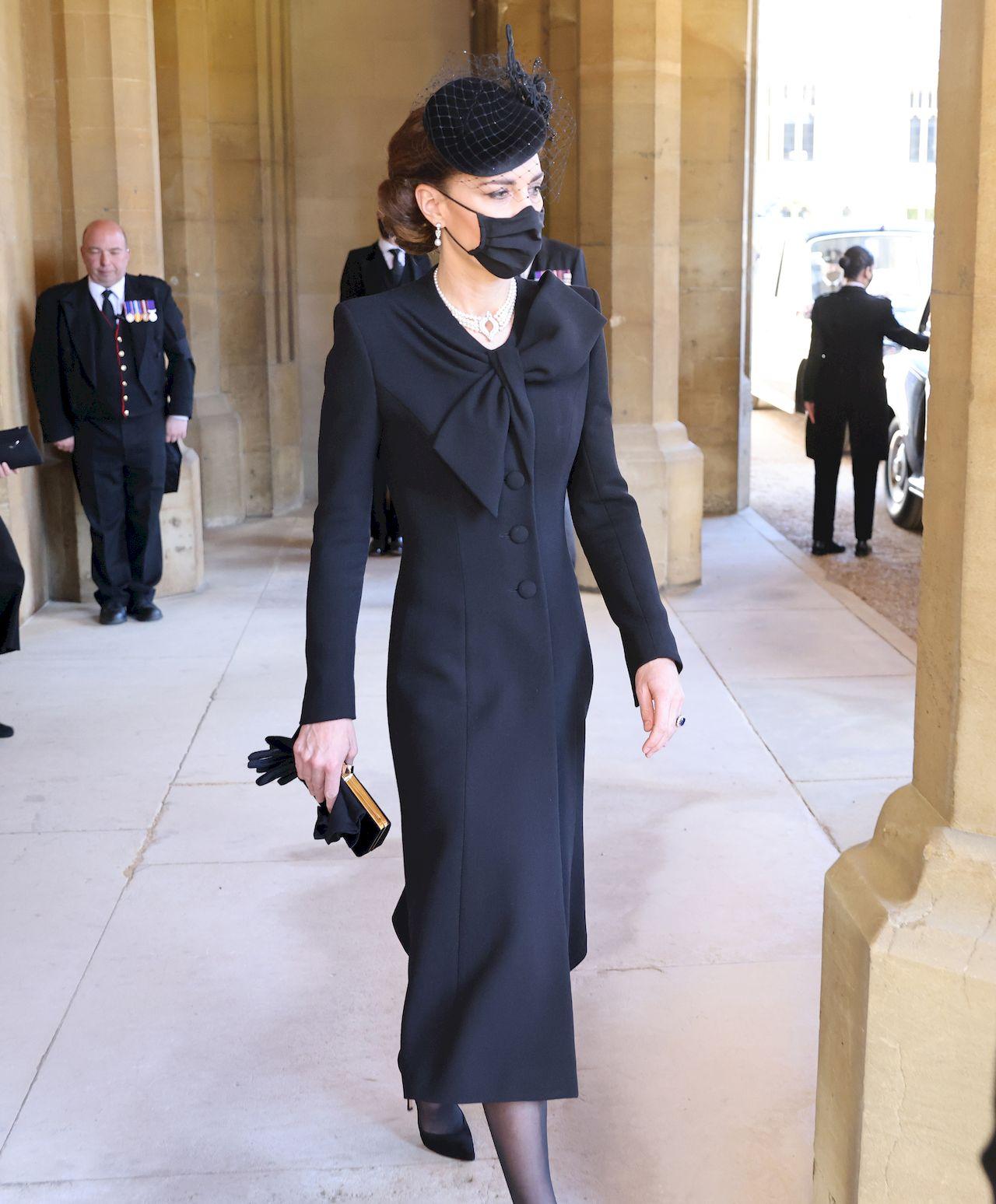 Księżna Kate podczas pogrzebu księcia Filipa