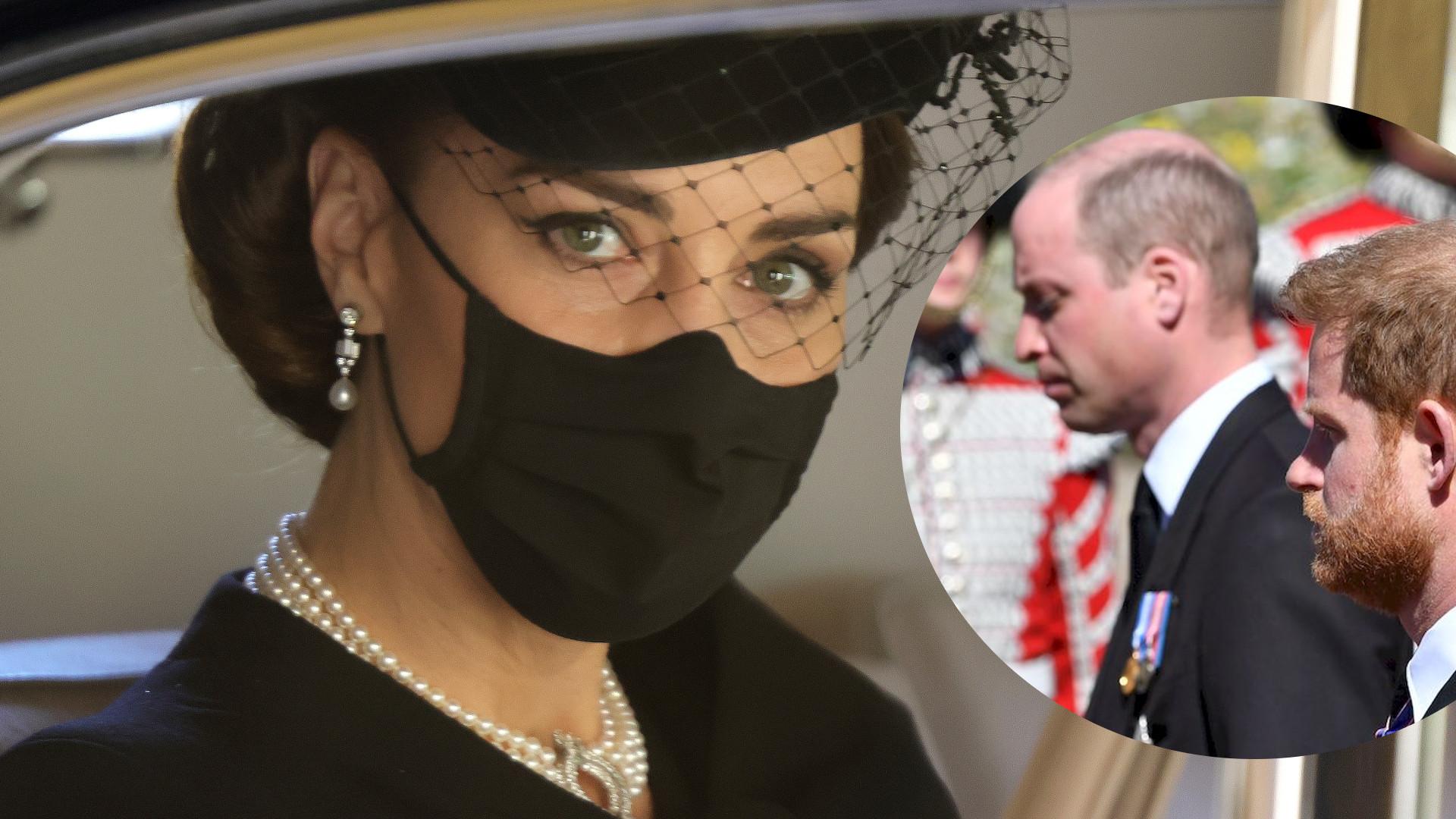 Eksperci komentują gest księżnej Kate. Pomogła Williamowi i Harry'emu