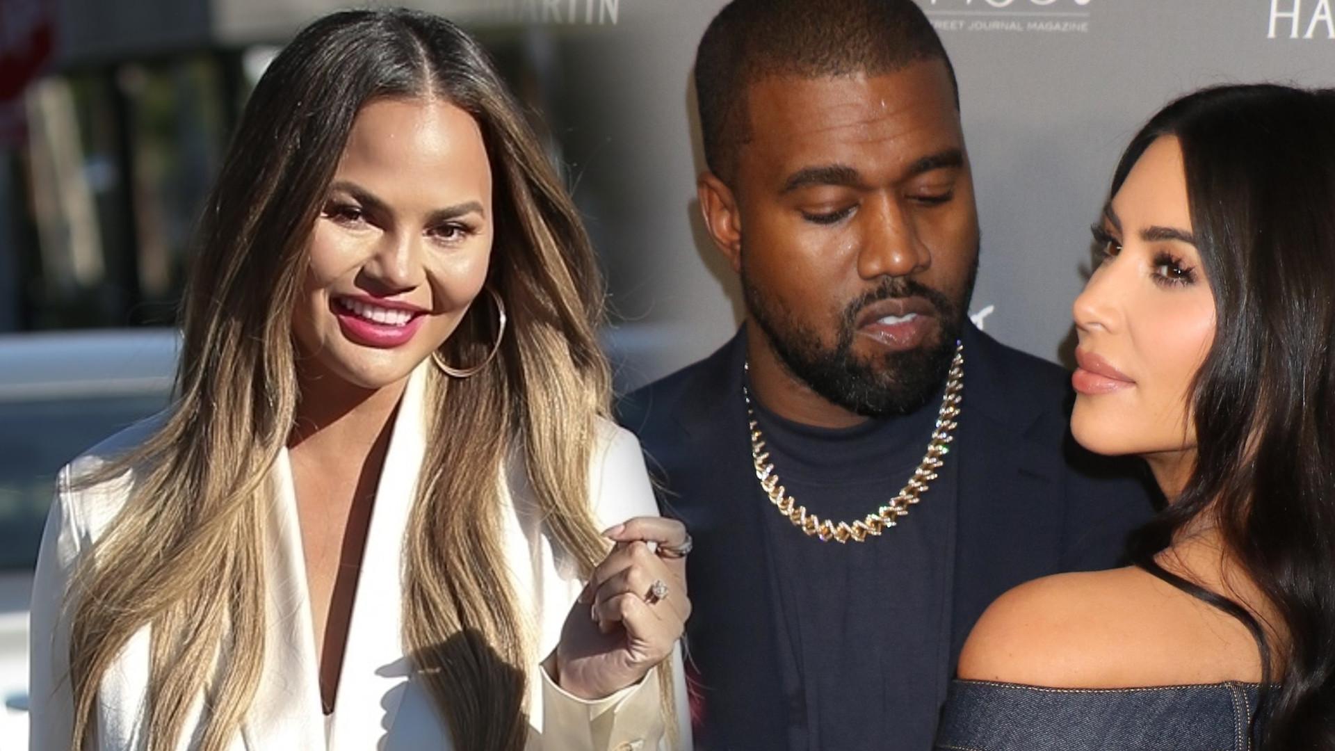 Chrissy Teigen ujawnia KULISY rozwodu Kim Kardashian i Kanye Westa!