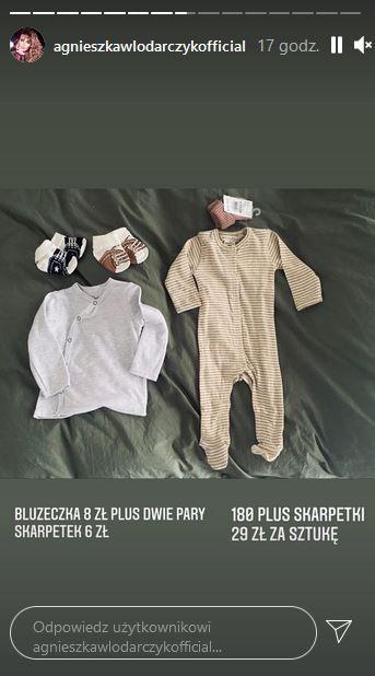 Agnieszka Włodarczyk kupuje tanie ubranka dla dzieci
