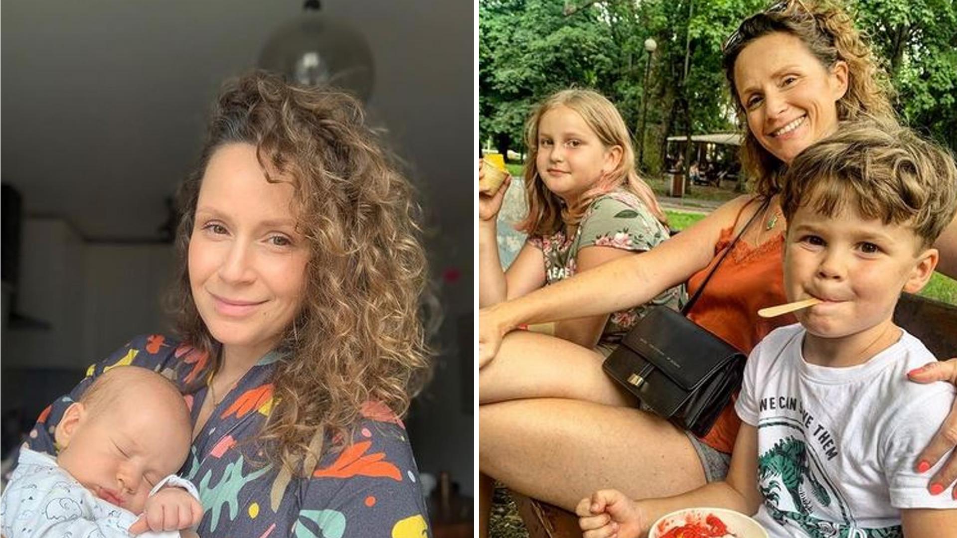 """Monika Mrozowska dodała zdjęcie z czwórką dzieci. Odpowiada na przytyk, że """"każde ma z innym"""""""