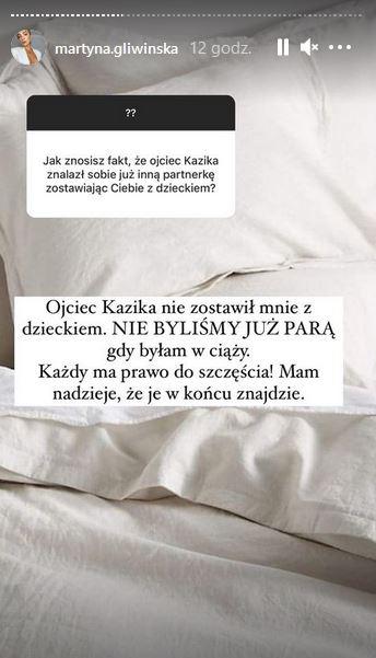 Martyna Gliwińska o nowym związku Bieniuka