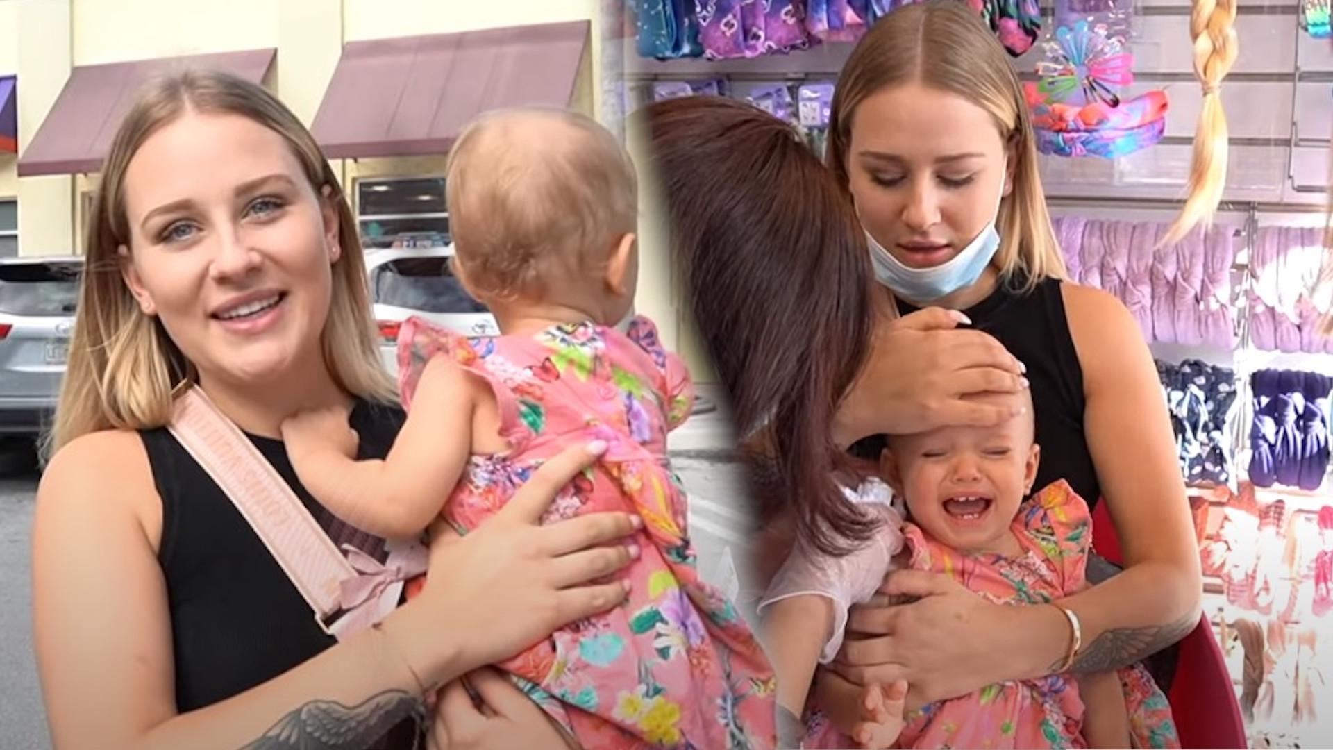 Andziaks przekuła uszy PISTOLETEM rocznej córce. Internauci podzieleni