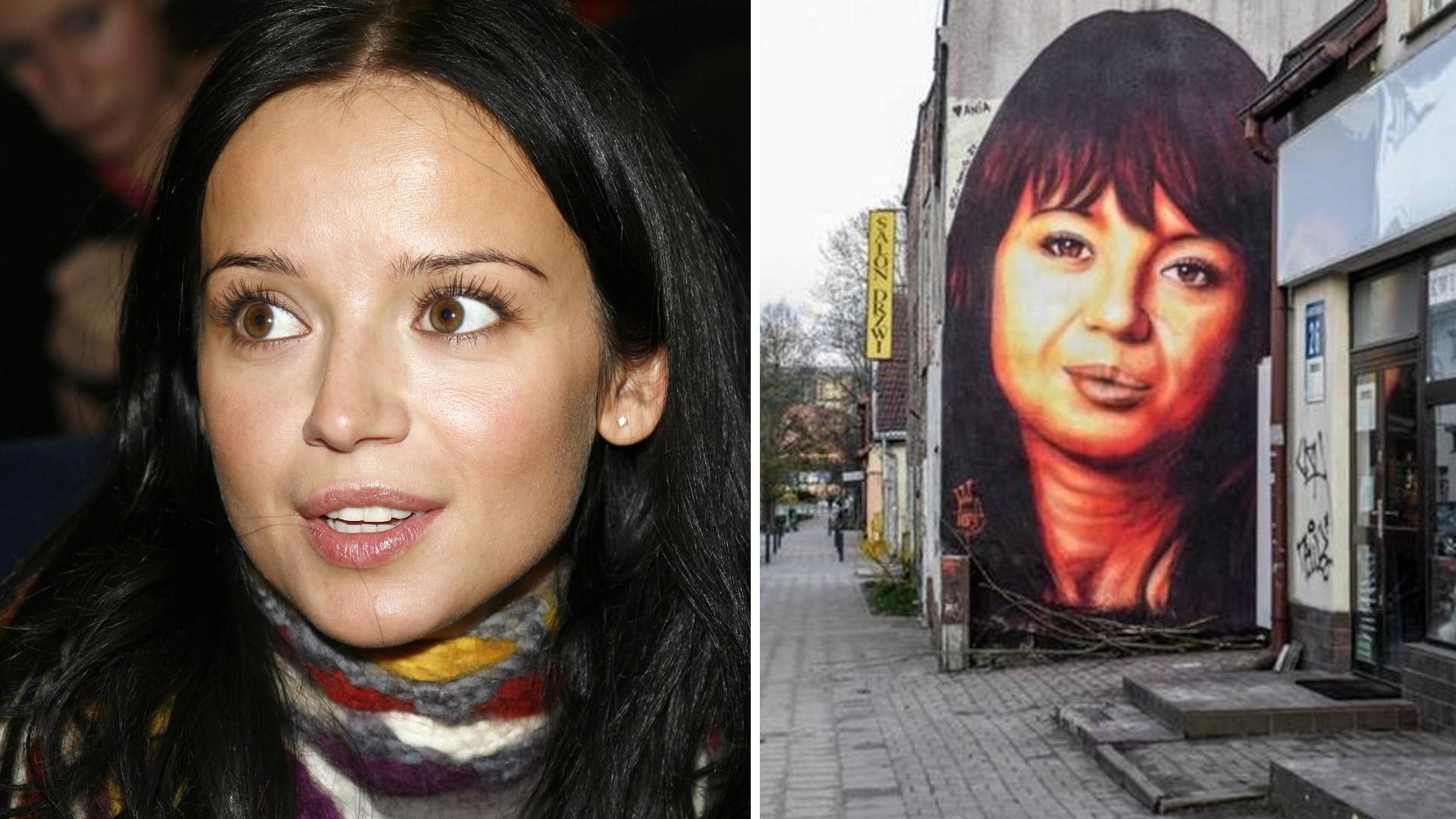 Mural z Anną Przybylską został skrytykowany. Autor go poprawił. Wygląda lepiej?
