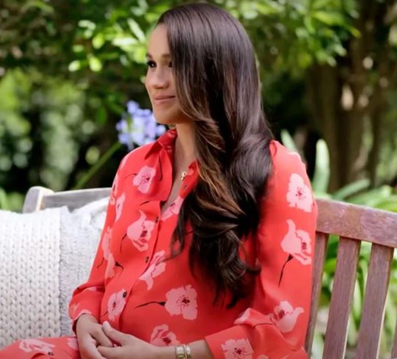 Meghan Markle w sukience w maki