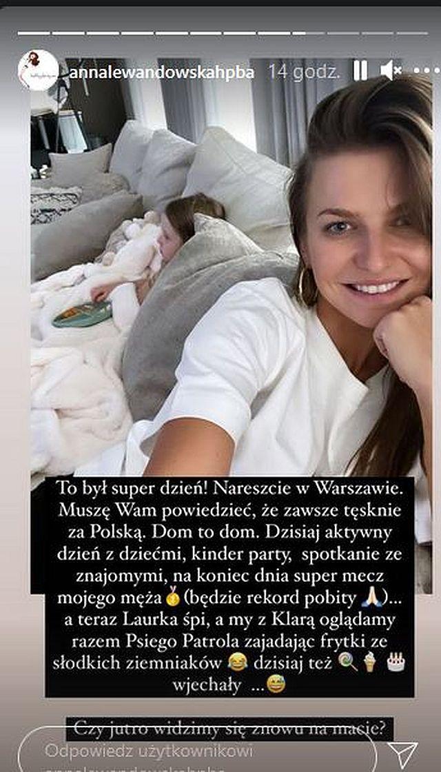 Anna Lewandowska spędza wieczór z Klarą