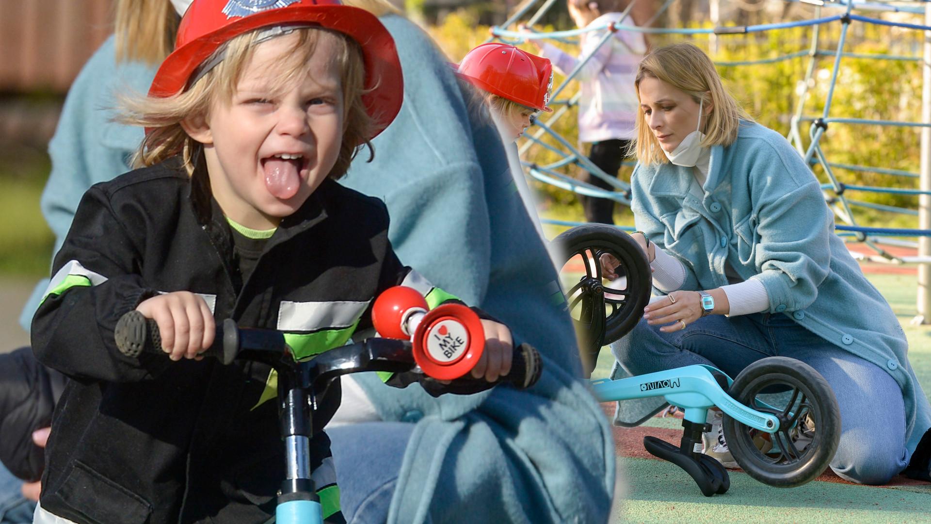 Odeta Moro na placu zabaw z synem. Patrzcie, za kogo 3-latek się przebrał (ZDJĘCIA)
