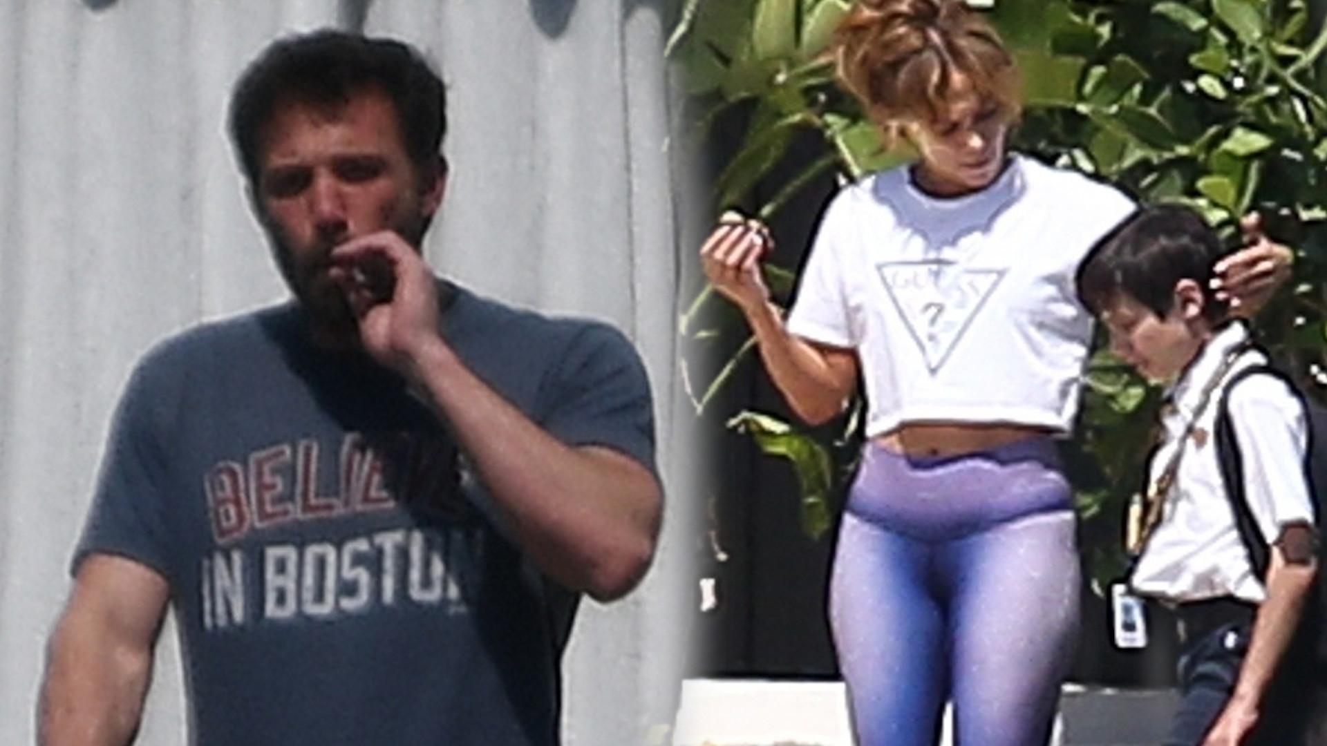 Jennifer Lopez i Ben Affleck tak spędzają poniedziałek w MIAMI (ZDJĘCIA)