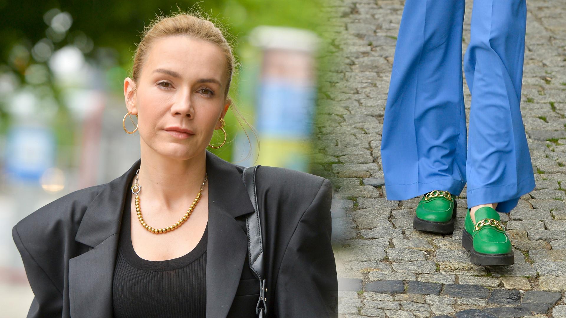 Gwiazdy DD TVN: Olga Bołądź pokazała zgrabne nogi, aktorka w ciekawym obuwiu (ZDJĘCIA)