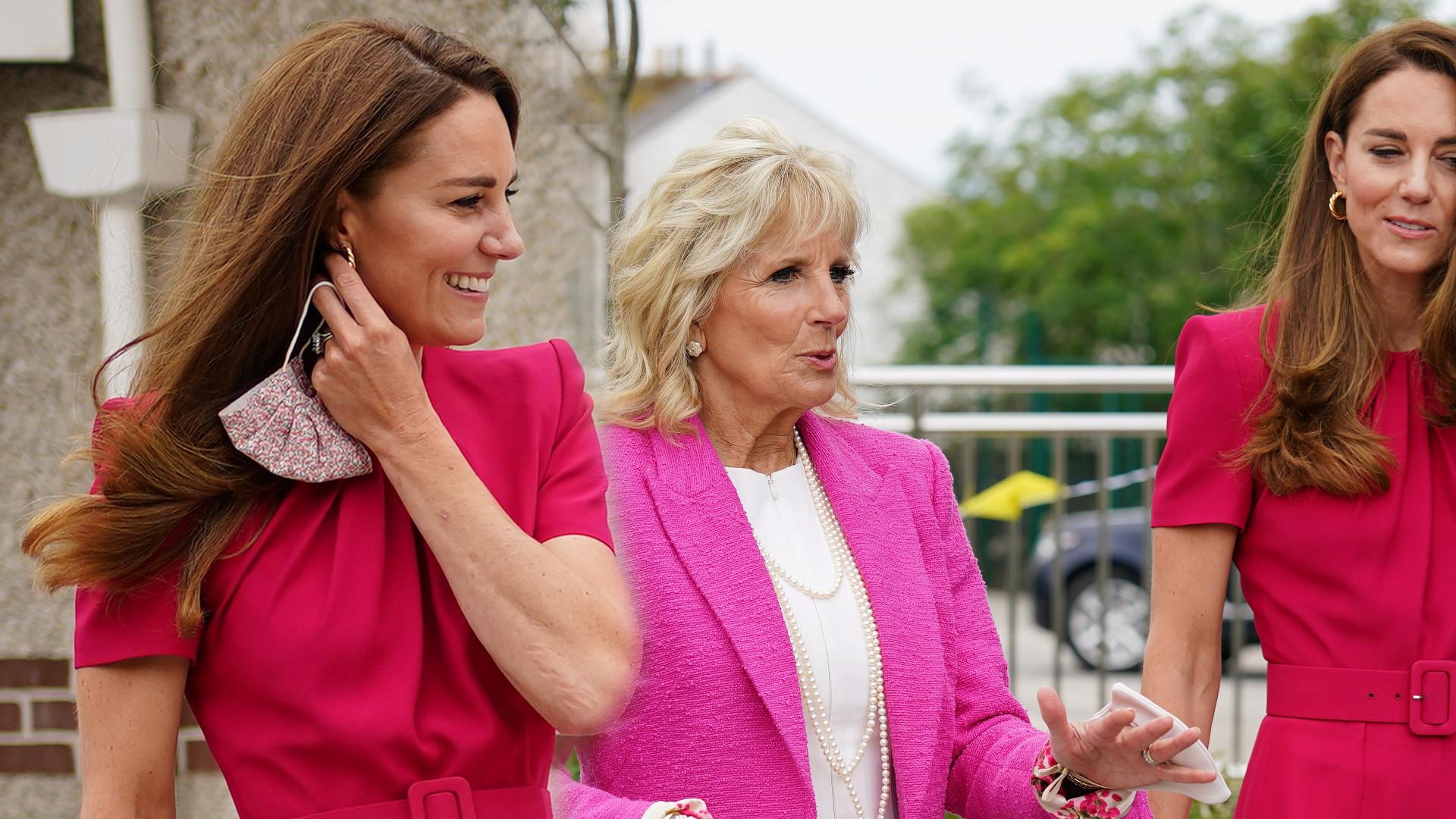 Kate Middleton i Jill Biden odwiedziły szkołę. Księżna pierwszy raz o córce Meghan i Harry'ego (ZDJĘCIA)