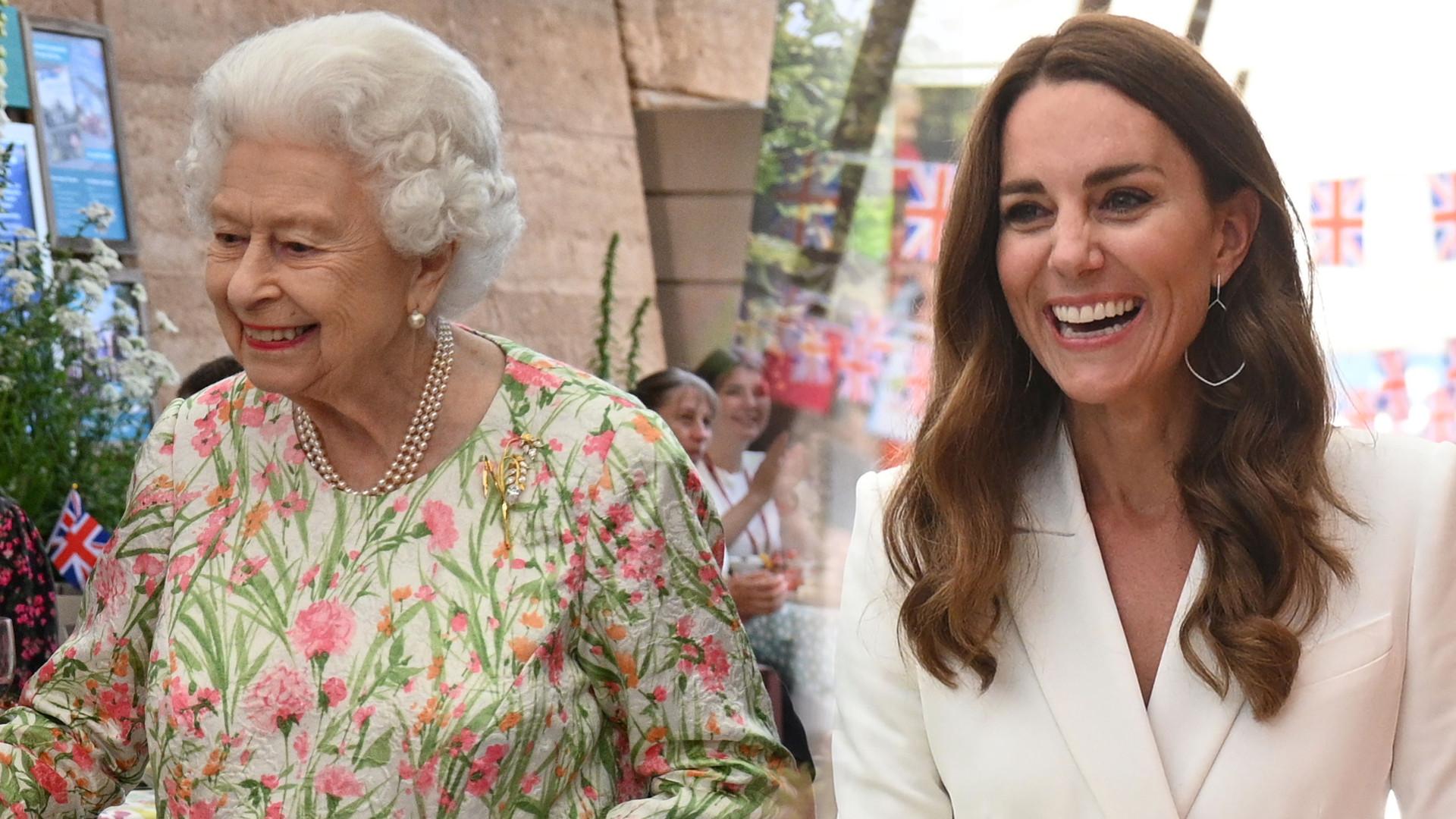 Przyjęcie u królowej Elżbiety dla przywódców G7. Księżna Kate w bieli, żona Borisa Johnsona zadała szyku (ZDJĘCIA)
