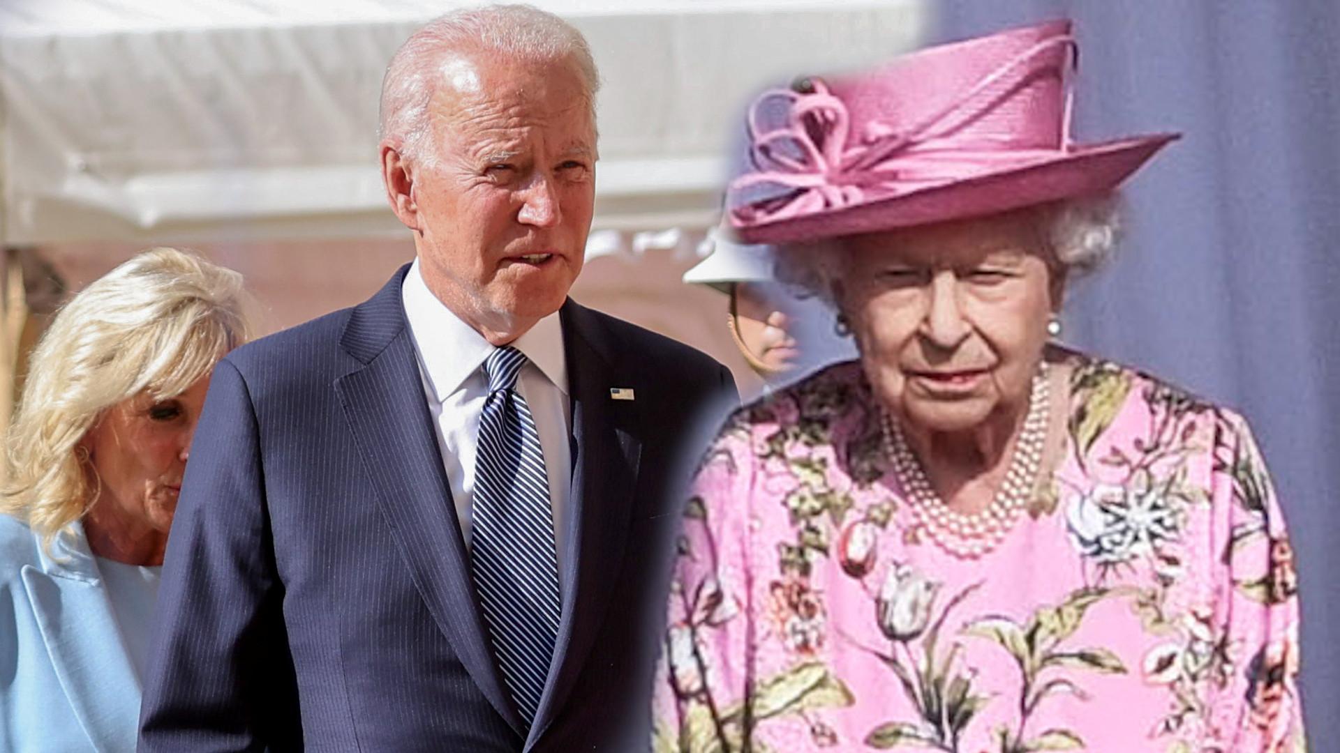 Pierwsze spotkanie Joe Bidena z Królową Elżbietą II. Media wyliczają mu WPADKI