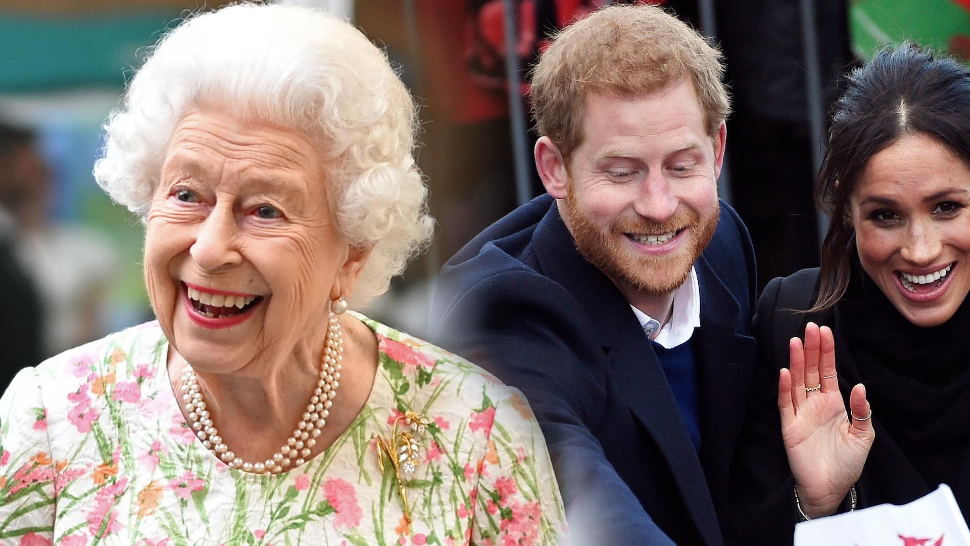 Królowa Elżbieta podczas ostatniego wyjścia przekazała sekretną wiadomość dla Meghan i Harry'ego