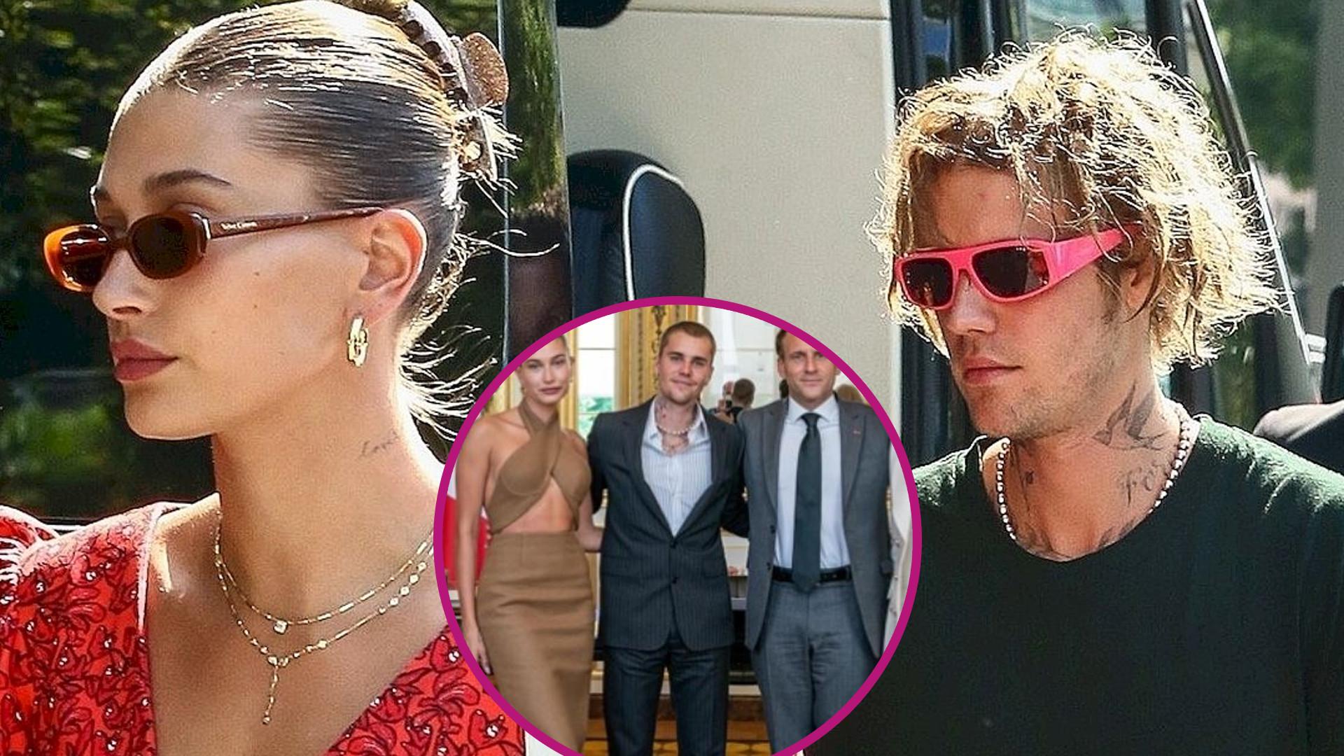 Internet aż HUCZY dziś na temat stylizacji Justina i Hailey na spotkaniu z Emmanuelem Macronem