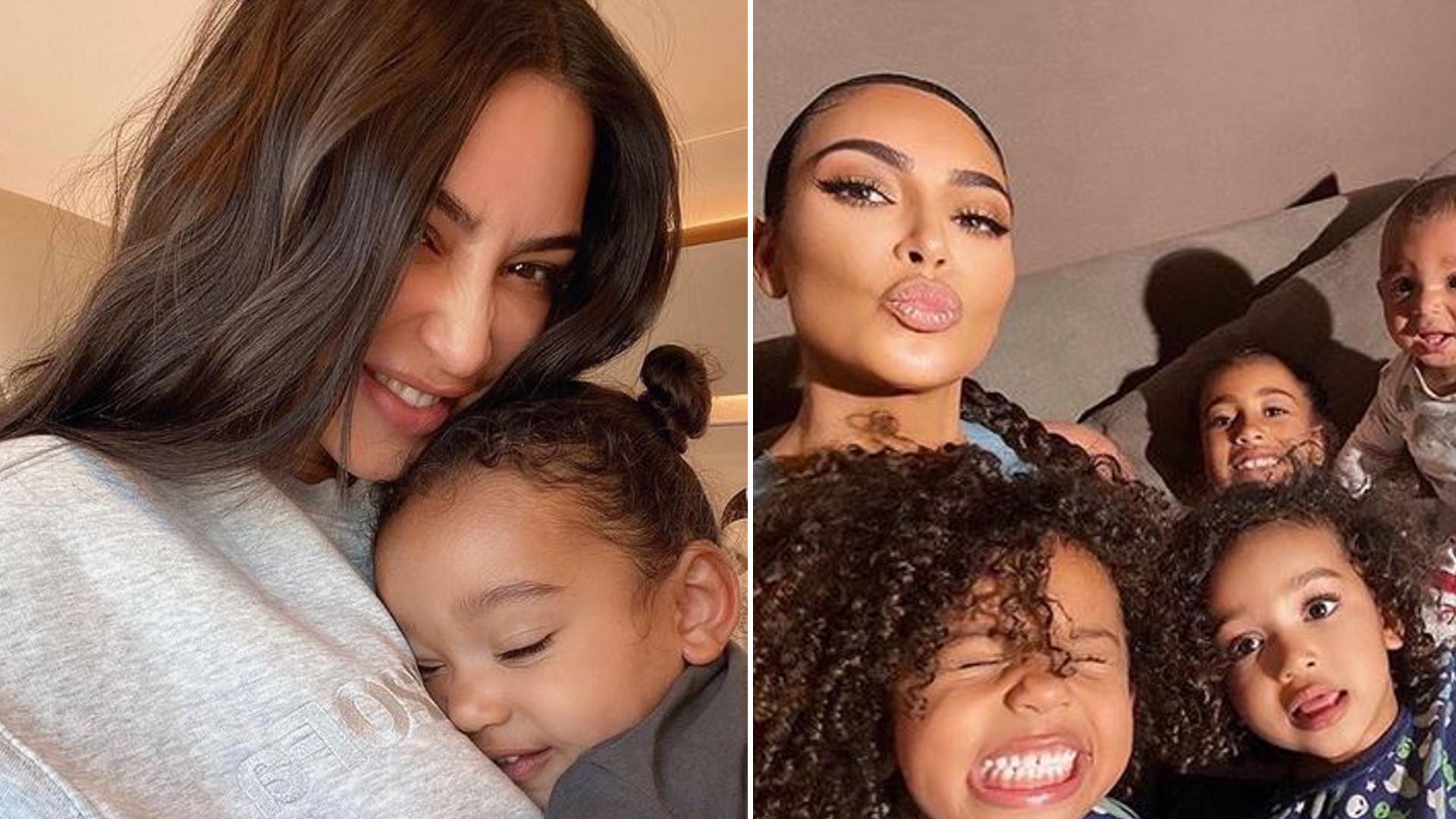 Nowe zdjęcie córki Kim Kardashian hitem Instagrama. Buszuje w garderobie mamy