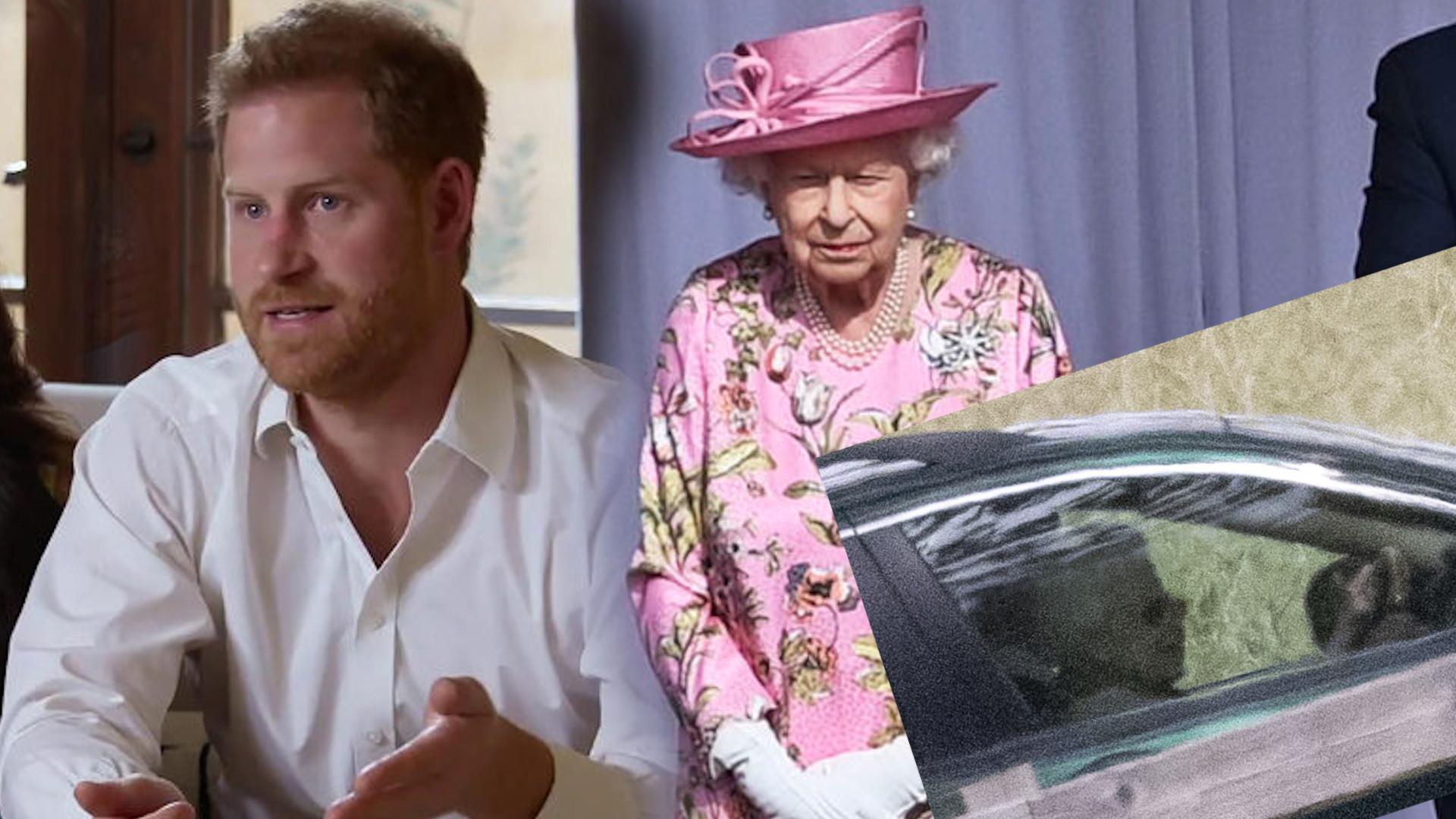 Królowa Elżbieta II udała się na tajne spotkanie z Harrym? Sama prowadziła samochód (ZDJĘCIE)