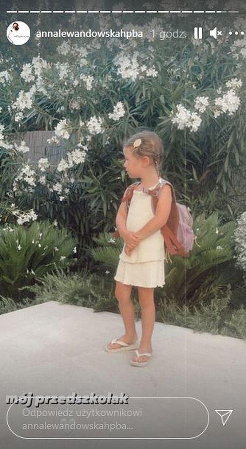 Klara Lewandowska idzie do przedszkola