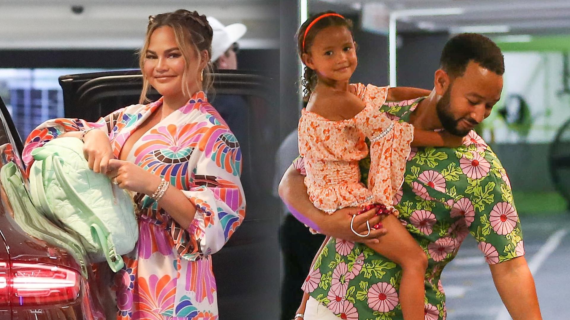 Chrissy Teigen i John Legend na zakupach z dziećmi. Kiedy one tak urosły? (ZDJĘCIA)