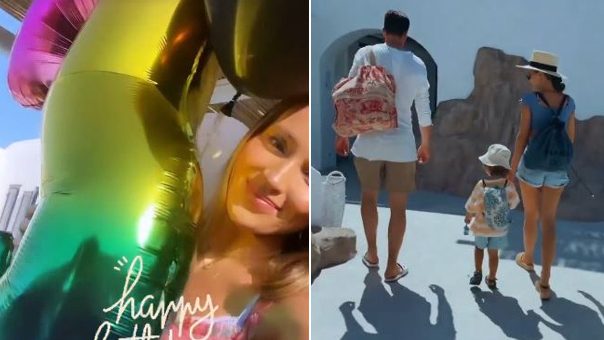 Marina i Wojtek Szczęsny świętują 3. urodziny Liama na Mykonos